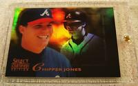 CHIPPER JONES 1996 SELECT CERTIFIED MIRROR GOLD FOIL #142 ONLY 30 PRODUCED