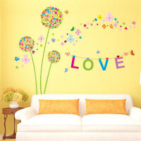 Dandelion Flowers Room Home Decor Removable Wall Sticker Decals Decoration*