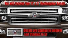 Texas Flag Old Wood Emblem OVERLAY Decals for Chevy Bowtie Emblem -2 U CUT