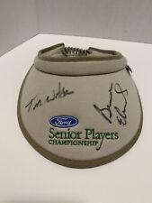 Tom Watson Bruce Edwards? Signed Autographed Golf Hat Senior PGA Tour Cap