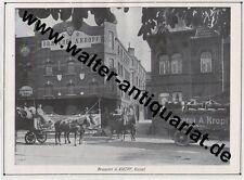 Brauerei Kropf Kassel Große Werbeanzeige/Fotodruck anno 1928 Bier Reklame