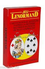 Jeu LENORMAND - Cartes de bonne aventure - Divination