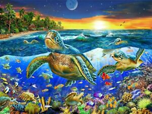 1000 Pcs Marine Life Sea Turtle Tropical Fish Jigsaw Adult Kid Educational Toys