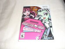 Monster High Ghoul Spirit (Nintendo Wii, 2011)   NTSC COMPLETE