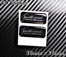 2x Sport Mind Produced by BMW Performance 3D Aufkleber- Abzeichen Sticker