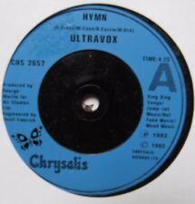 "ULTRAVOX - Hymn - Excellent Condition 7"" Single Chrysalis CHS 2657"