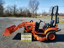 2017 Kubota Bx1880 Compact Loader Tractor W/Belly Mower 65 Hours! Warranty!