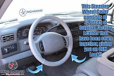 1998 1999 Ford Expedition Eddie Bauer XLT-Leather Wrap Steering Wheel Cover Gray
