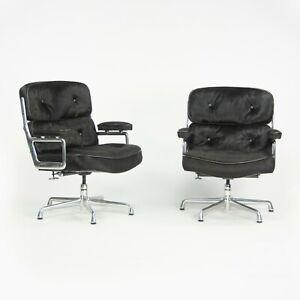 2010 Herman Miller Eames Time Life Executive Desk Chair Hair On Black Pony Hide