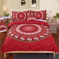 5pcs Bed in a Bag Bedding Set Queen Elephant Print Duvet Cover Set Usa Size Mand