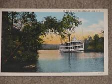 In the Outlet, Chautauqua Lake, N.Y., used vintage card