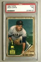 1962 Topps Jack Curtis - All-Star Rookie Cup - Chicago Cubs - PSA 7