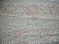elastische Spitze champagner, rosa 18cm breit, Meterware MN31
