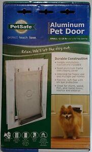 "NIB PetSafe Small-1-15 Lb Freedom Aluminum Pet Door 5.25"" x 8.125"" Flap opening"