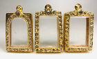 3pcs Empty case frame Phra Somdej Somdet Gold Micron Gem Thai Amulet Pendant 3 4