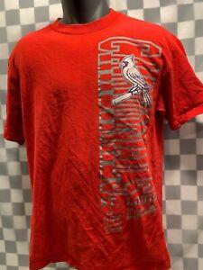 St Louis CARDINALS Baseball 700 Clark St MLB T-Shirt Size L