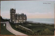 Irish Postcard Belfast Castle Northern Ireland Uk W. & G. B. Ltd Hand-colored