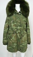 NWT ZARA WOMENS TRAFALUC OUTERWEAR CAMO HOODED PARKA JACKET COAT SIZE M