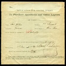 BOER WAR PERIOD RECEIPT SPECIAL PURCHASE ALCOHOL 1901 SOUTH AFRICA