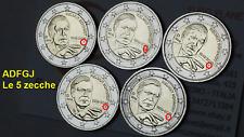 5 x 2 euro 2018 ADFGJ Germania Helmut SCHMIDT Deutschland Allemagne Germany 德国