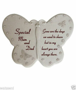 Butterfly Grave Ornament with Diamante - Memorial Tribute GraveSide