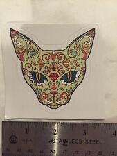 Sugar Skull Day Of The Dead Cat Decal Sticker