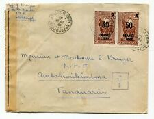 French Madagascar 1943 Ambatolampy CDS - WWII CENSOR Cover to Tananarive