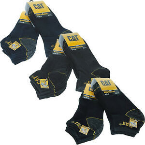 6 Pairs of CAT Caterpillar Mens Heavy Duty Trainer Ankle Low Cut Work Socks