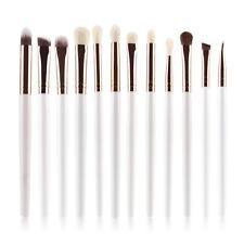 12pcs Makeup Brushes Set Eyeshadow Eyebrow Eyeliner Professional Lip Brush 6pcs White