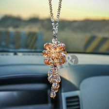 Champagne Crystal Suncatcher Car Mirror Pendant Jewelry Decor Hanging Ornament