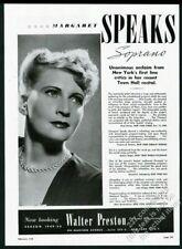 1949 Margaret Speaks photo opera singing recital tour booking trade print ad