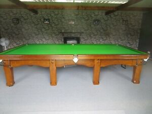 Riley Imperial 0ak Full Size Snooker Table Fully Restored and Re-polished