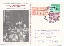 1986 GERMANY Philatelic Cover SCIENCE STAMP EXHIBITION Magdeburg Friedrichsdorf