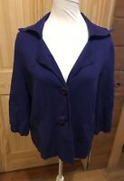 Belford Purple Cardigan Sweater 100% Pima Cotton 2-Button Size Large EUC ~ *WOW*