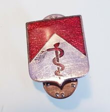 Vintage US Army 30th Medical Brigade - Metal Enamel Lapel Double Pin Badge