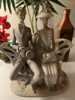 """LLADRO -1274-""""Lovers In The Park"""" Gorgeous !!!Mint, Except Couple Leaves Missing"""