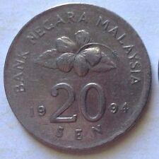 Malaysia 20 sen 1994 coin