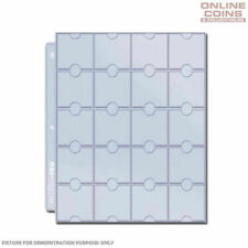 30 X Ultra Pro 20 Pocket Coin Page Plastic Sleeve for Coins Display Storage