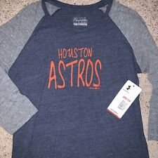 NWT MLB Under Armour Houston Astros Youth Loose Fit 3/4 Sleeve Shirt - YXl