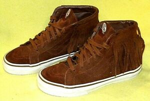 VANS Chukka Ankle Moccasin Sneaker Shoes Caramel Beige Suede Rubber Sole yOUTH 3