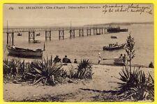 cpa 33 - ARCACHON (Gironde) Côte d'Argent DÉBARCADÈRE à BÉLISAIRE Ponton Barques