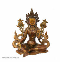 Soprammobile Tibetano Verde Tara La Caringandcourageous Divinità Buddista 49 CM