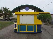 Outdoor Kiosk Aluminum 4 Rollup Doors Storage 50 amp Power Rolls Kind Theme Park
