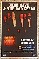 Original Nick Cave & The Bad Seeds Concert Poster Msg Nyc 2008