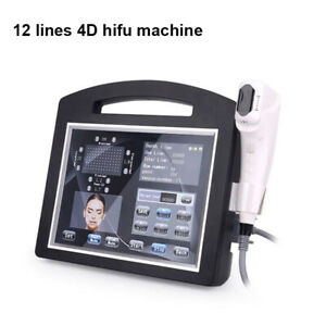 Portable ultrasound 4d hifu 12 lines body slim skin tighten salon beauty device