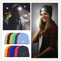 5LED Light Cap Knit Beanie Hat with Batteries Hunting Camping Fishing Outdoor QY