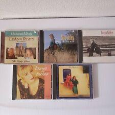 Vintage Female Country CD Lot of 5 Tanya Tucker Judds Leann Rimes Sue Foley