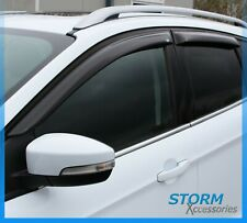 EGR WIND DEFLECTORS QUAD SET IN DARK SMOKE FOR FORD KUGA 12-18 - STICK-ON-TYPE