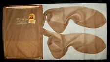 LOT OF 3 SHEER MIXED SEAMED FULL FASHIONED CUBAN HEEL STOCKINGS SZ.11 LG