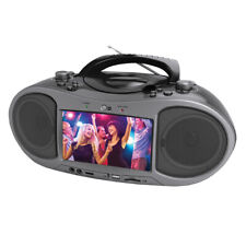 Bluetooth CD and DVD Boombox with LCD Screen